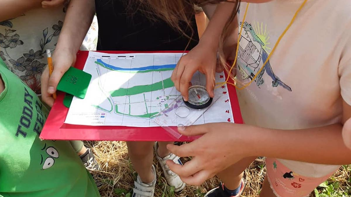 Orienteering a villa are
